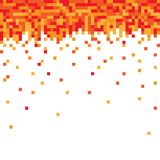 Pixel fire background. Pixel fire on white background Stock Images