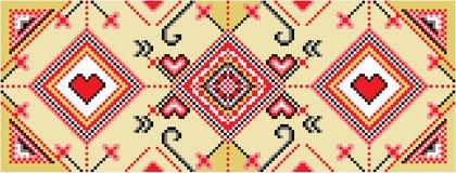 Pixel folklore ornament. Pixel art color folklore ornament illustration royalty free illustration