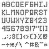 Pixel font Royalty Free Stock Photography