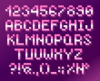 Pixel font, alphabet And numbers Royalty Free Stock Photography
