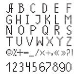 Pixel font Stock Photos