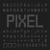 Pixel Font Design, Vector Letters And Numbers Royalty Free Stock Images