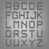 Pixel font isolated vector set. Set of vector Stock Images