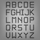 Pixel font isolated vector set. Set of vector Stock Photo