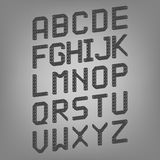 Pixel font isolated vector set. Set of vector Stock Photography