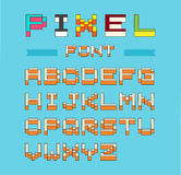 Pixel font isometric vector set Royalty Free Stock Photo