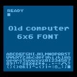 Pixel Font Stock Image