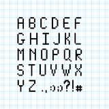Pixel font page Stock Photography