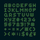 Pixel font in 4x5 pixel grid Royalty Free Stock Images