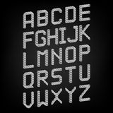 Pixel font  vector set. Set of vector Stock Photography
