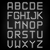Pixel font  vector set. Set of vector Royalty Free Stock Images