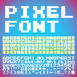 Pixel font Royalty Free Stock Images