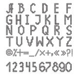 Pixel font Stock Photography