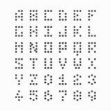 Pixel, fonte del pezzo, alfabeto Fotografia Stock Libera da Diritti