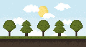 Pixel forest Stock Photography