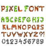 Pixel game font Royalty Free Stock Images