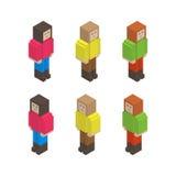 Pixel girls Stock Photo