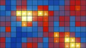 Pixel-Gitter-Videohintergrund-Schleife @60fps //4k der Mosaik-Licht-Show mehrfarbiges buntes stock abbildung