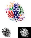 Pixel Global World Logo Royalty Free Stock Image