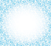 Pixel gradient frame. Blue pixel gradient frame on background stock illustration