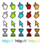 Pixel graphic vector pointers Stock Photos