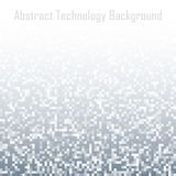 Pixel Gray Technology Gradient Background abstrait Contexte de conception de mosaïque de lumière de mosaïque d'affaires avec les  Photographie stock
