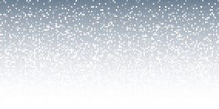 Pixel Gray Technology Gradient Horizontal Background abstrait Contexte de conception de lumière de mosaïque d'affaires avec les p Photographie stock