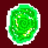 Pixel green portal. Illustration 8bit Royalty Free Stock Image