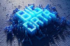 Pixel-großes Daten-Konzept lizenzfreie abbildung