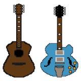 pixel guitar set Royalty Free Stock Photo