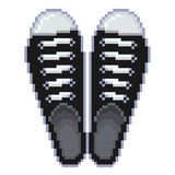 Pixel gumshoes  vector Royalty Free Stock Image