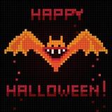 Pixel halloween bat Royalty Free Stock Images