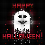 Pixel halloween ghost Royalty Free Stock Image