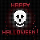 Pixel halloween skull Stock Photos