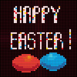 Pixel happy easter Stock Photography