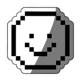 Pixel happy face design Royalty Free Stock Image