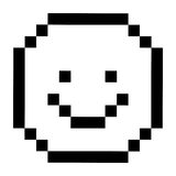 Pixel happy face design Stock Image
