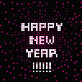 Pixel happy new year Stock Images