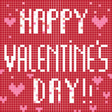 Pixel happy valentine day Stock Image