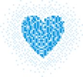 Pixel heart Royalty Free Stock Photos