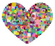 Pixel Heart Royalty Free Stock Image