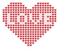 Pixel heart. Vector illustration on white background Stock Images