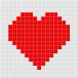 Pixel_heart Royalty Free Stock Photos