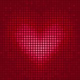 Pixel heart. Illustration for Valentine's Day Stock Photos