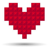 Pixel Heart. Vector pixel heart. EPS 10 file with global color swatches stock illustration