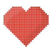 Pixel heart Royalty Free Stock Photo