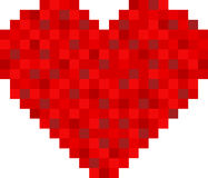 Pixel heart design Stock Images