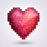 Pixel Heart. Love Stock Images