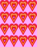 Pixel heart pattern Royalty Free Stock Images
