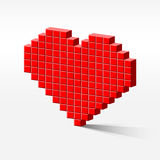 Pixel_heart_perspective Stockbilder